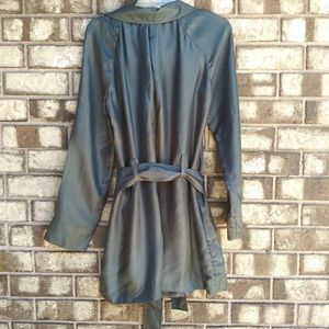 7 For All Mankind Dresses - NWT 7 FAM metallic silk dress size large